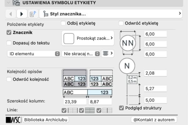 Archiclub Etykieta Warstw Linie 3