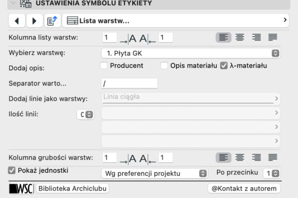 Archiclub Etykieta Warstw Linie 4