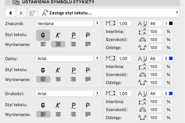 Archiclub Etykieta Warstw Linie 6
